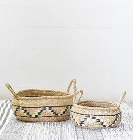 Natural/Black Seagrass Baskets