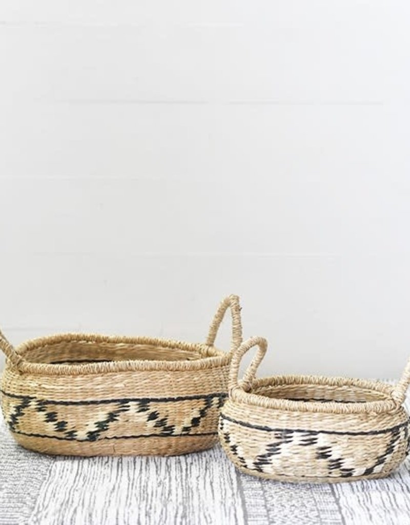 Natural/Black Seagrass Baskets