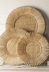 Round Bamboo Tray