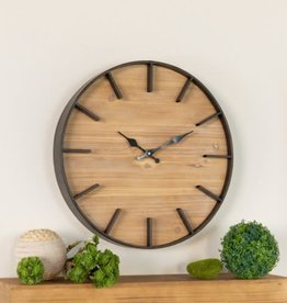 Flat Trim Metal wall Clock