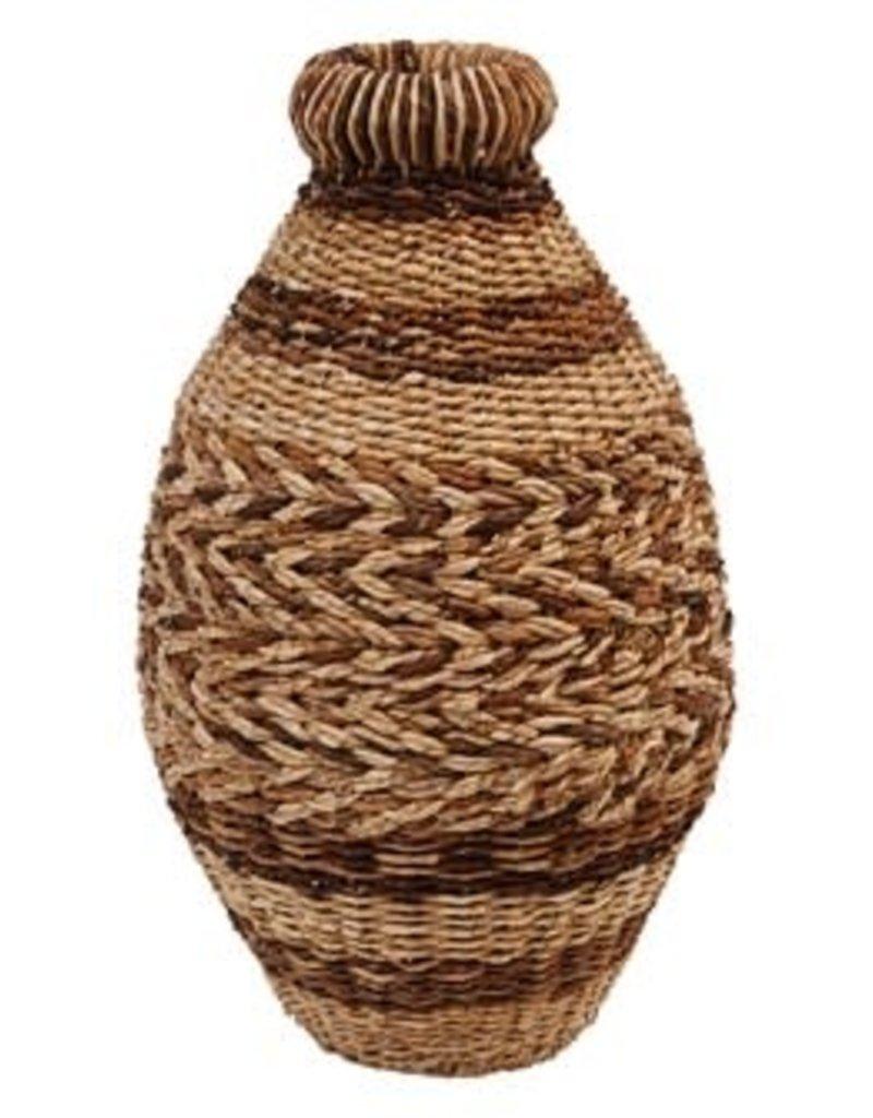 Hand-Woven Abaca & Seagrass Floor Vase