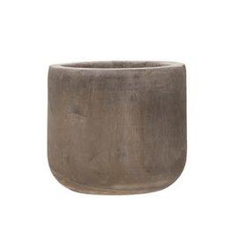 Paulownia Wood Planter, Grey Wash