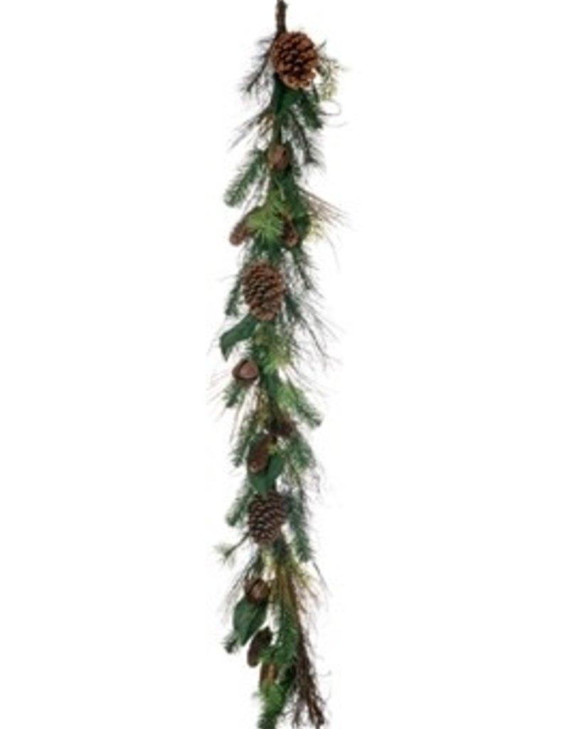 Pine Magnolia w/bells garland