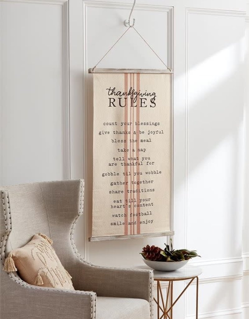 Reversible Holiday Rules Fabric Hanger