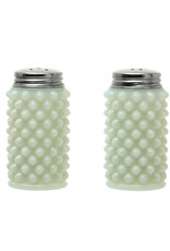 Milk Glass Hobnail Salt & Pepper Shakers, White, Set of 2