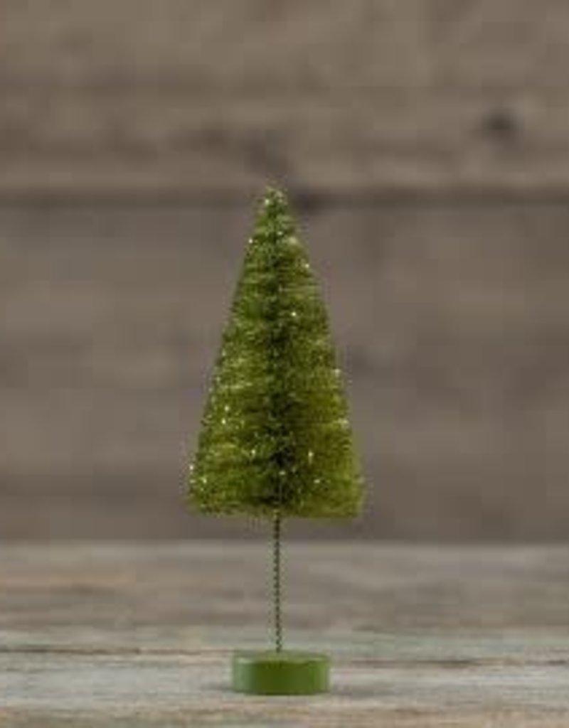 """7"""" Citrene Green Long Stem Bottle Brush Tree"""