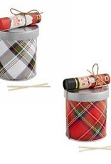 Tartan Candle and Matches