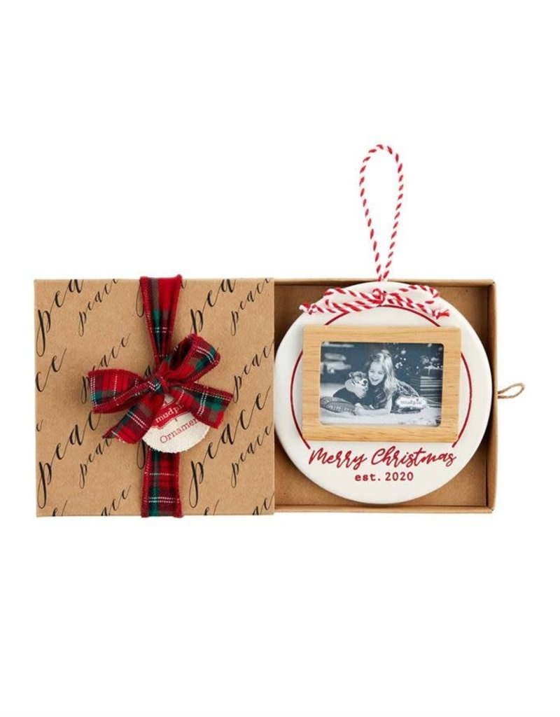 Stamped Merry Frame Ornament