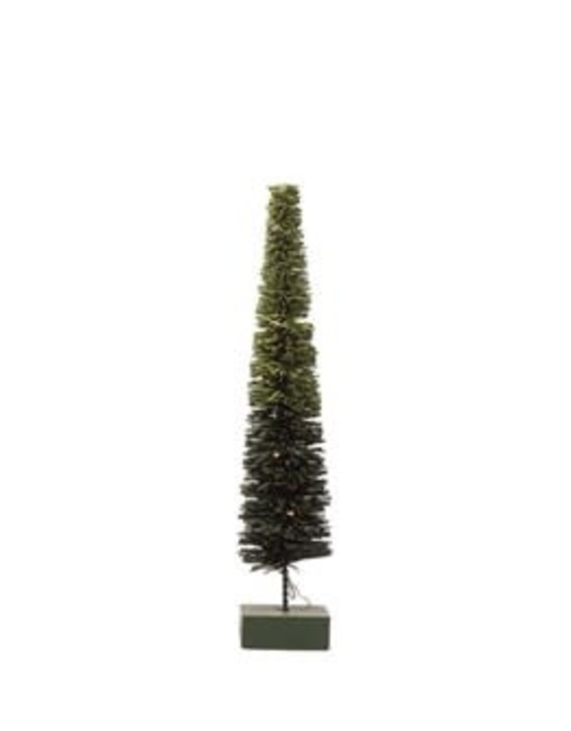 Rattan LED Tree, Green Ombre