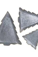 Ribbed Galvanized Metal Tree Trays