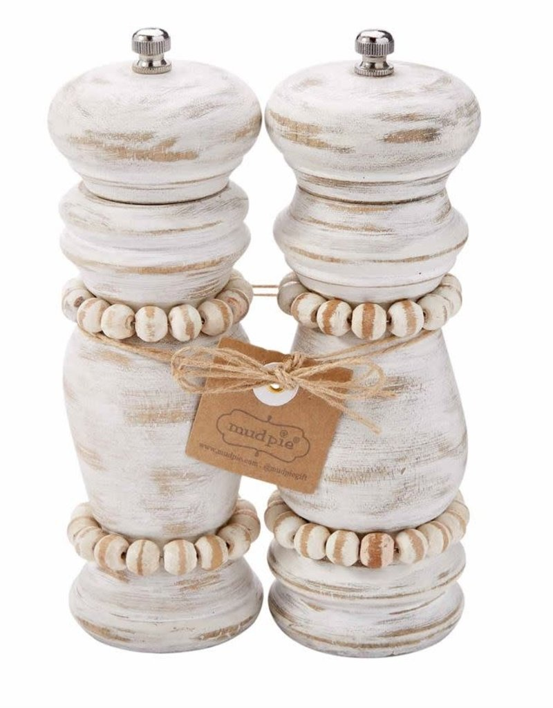 White Beaded Grinder Set