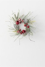 """2.5"""" ICED PINE BERRY RING"""
