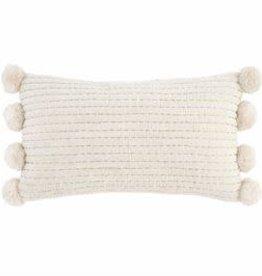 Lumbar Gold Pom Pom Pillow