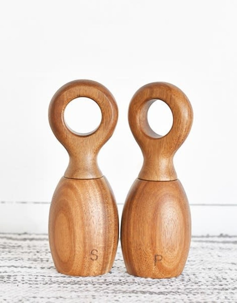 Ring Handle Salt Pepper Mill Rustic Roots