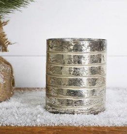 Silver Glass Jar