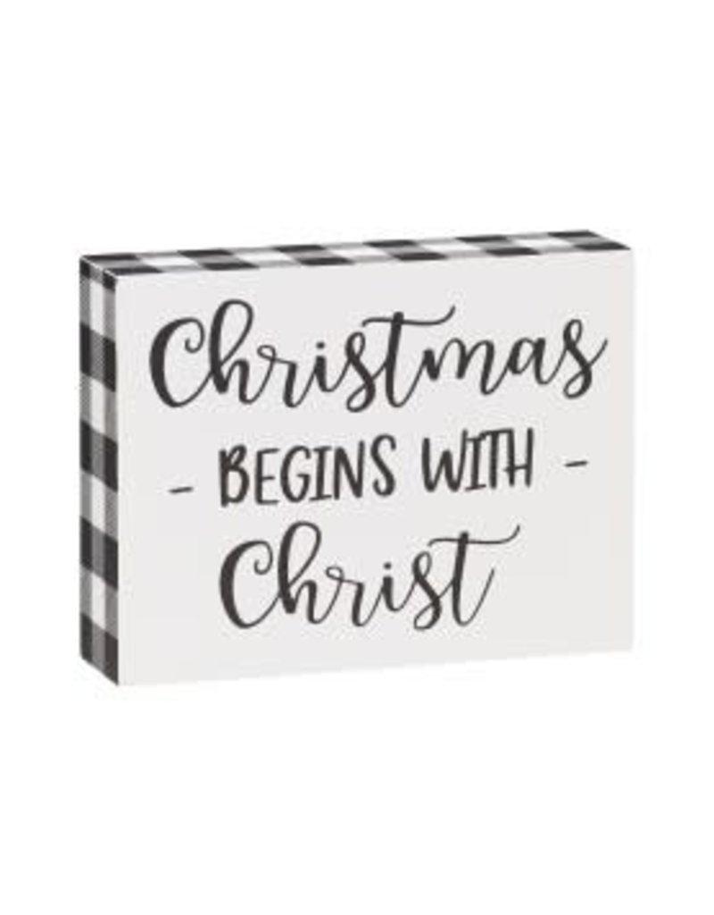 Christ Check Block Sign