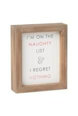 Naughty List Framed Sign