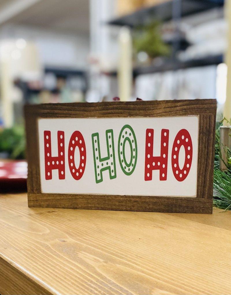 """Ho Ho Ho wood sign, 5.5""""x9.5"""""""