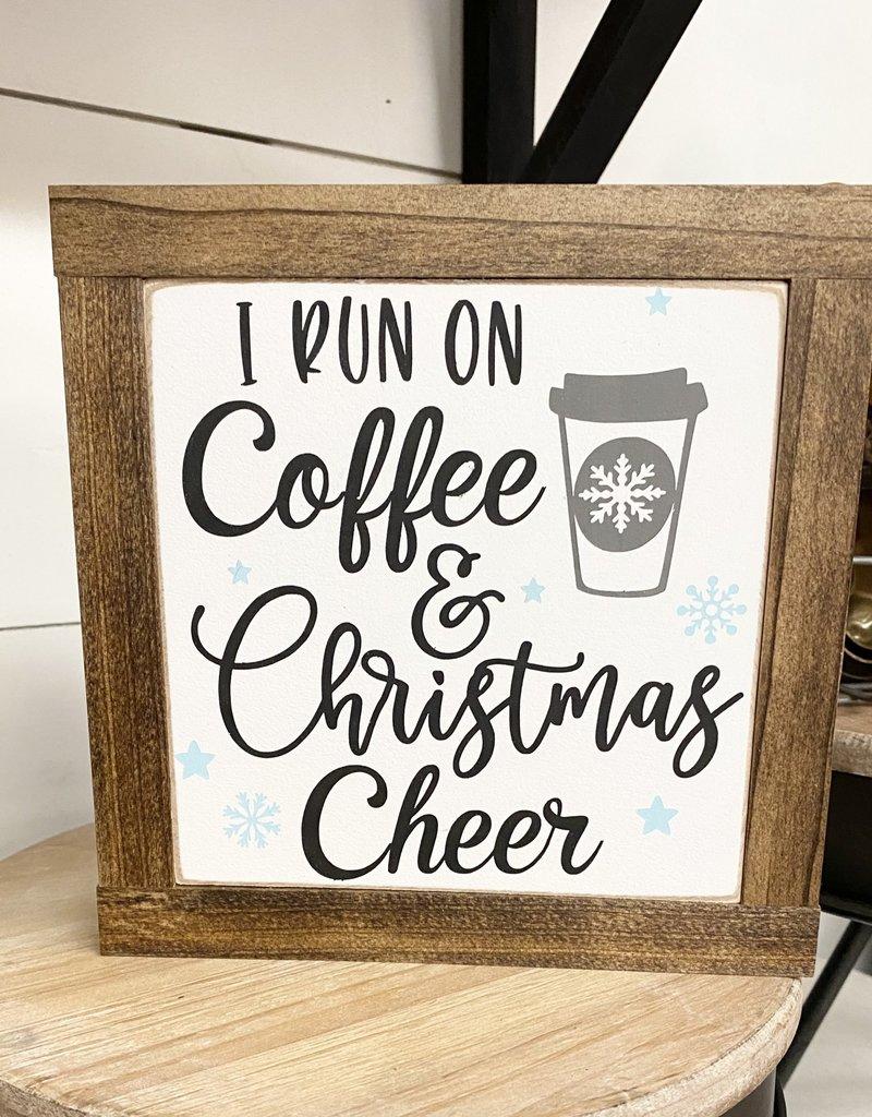 """Coffee and Christmas Cheer, 7.5""""x7.5"""""""