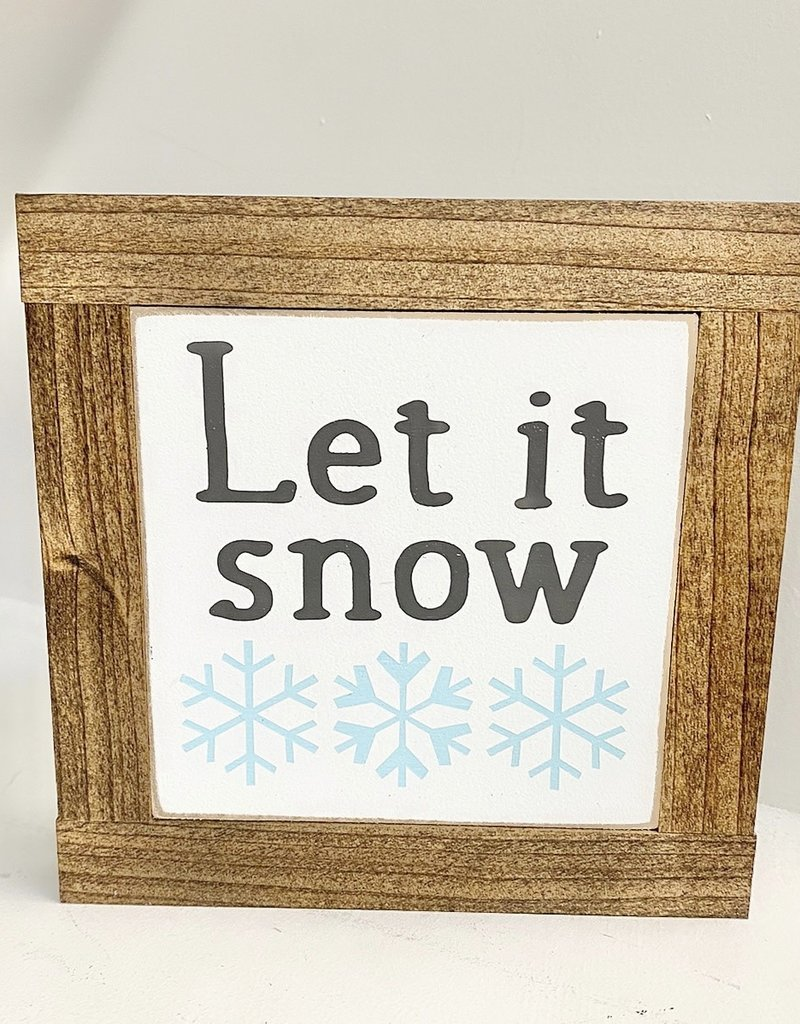 Let it Snow, baby sign