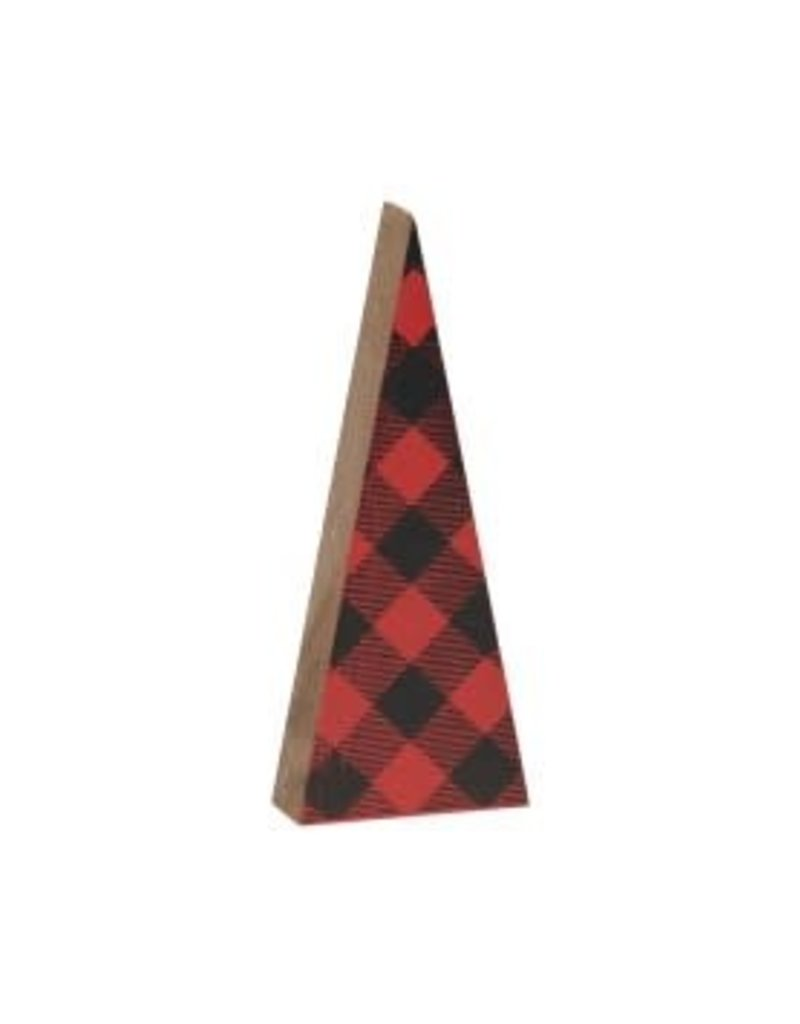 Buffalo Check Tree Cut Out (Red/Black)