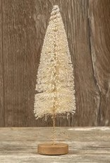 """9"""" Ivory Long Stem Bottlebrush Tree"""