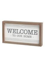 Welcome Striped Sign