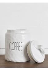 WHITE CERAMIC COFFEE KEEPER