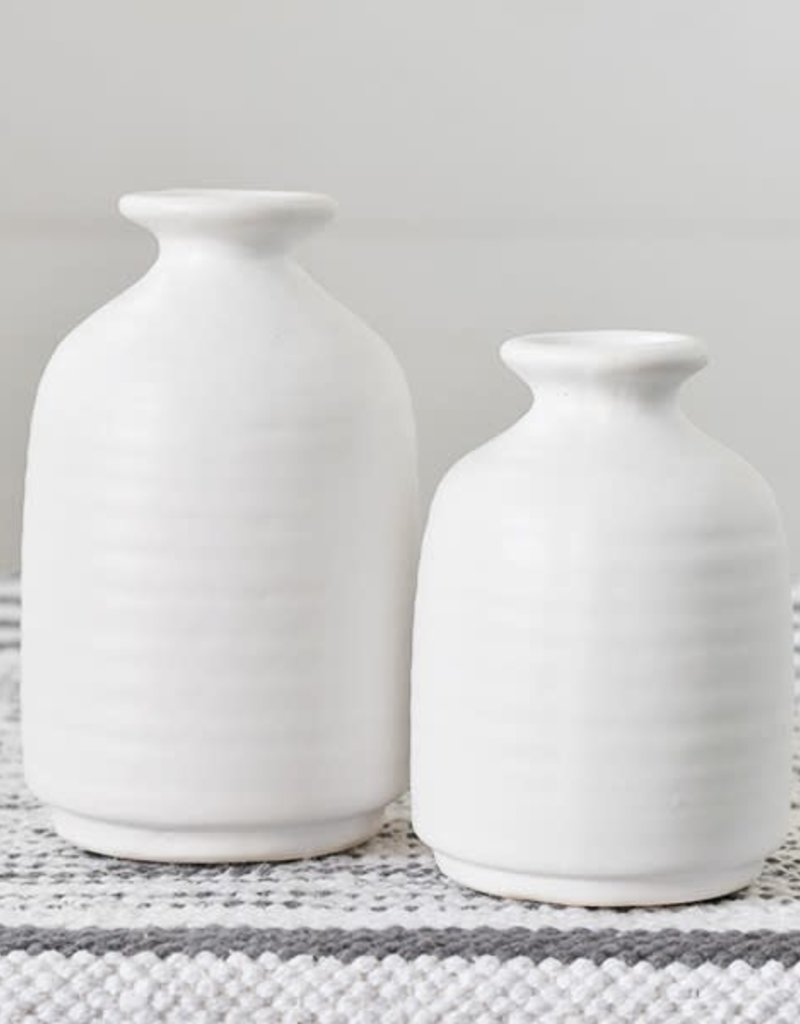 Matte White Vases (set of 2)