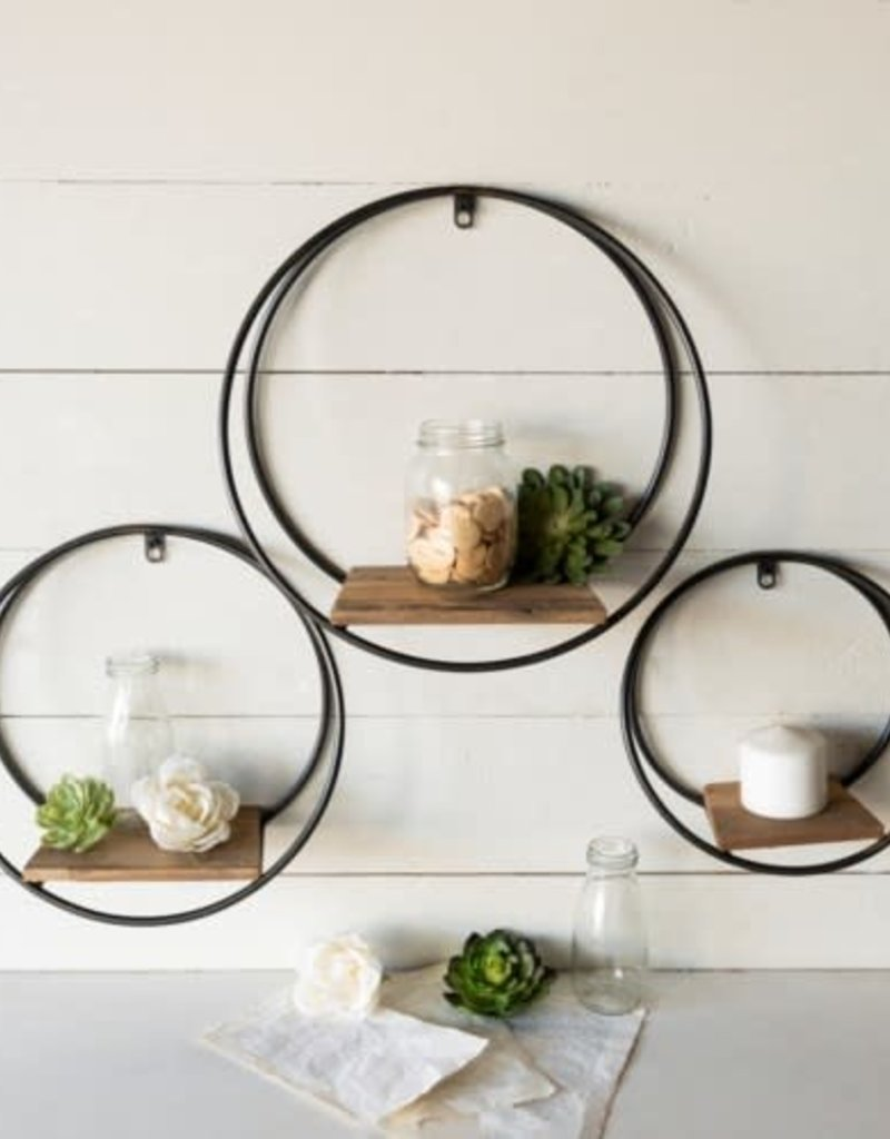 Framed Circle Shelves
