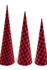 Red and Black Check Fabric Trees