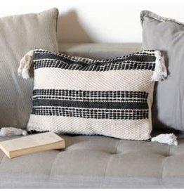 Black stripe pillow cover, long