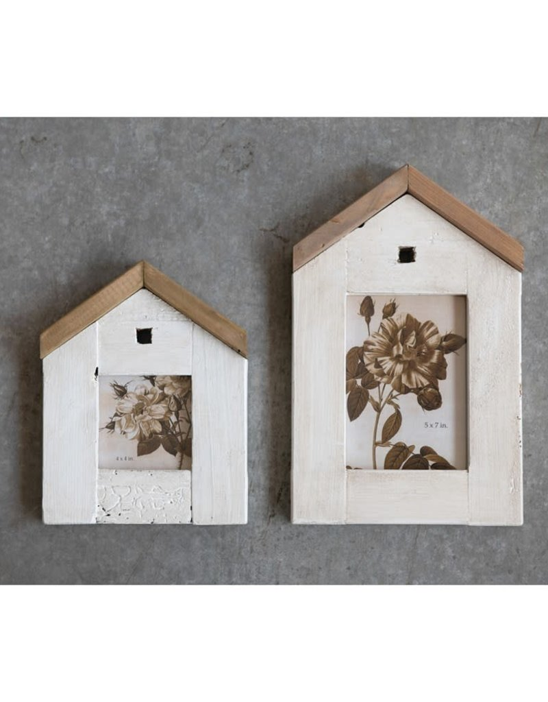 Reclaimed Wood House Photo Frame
