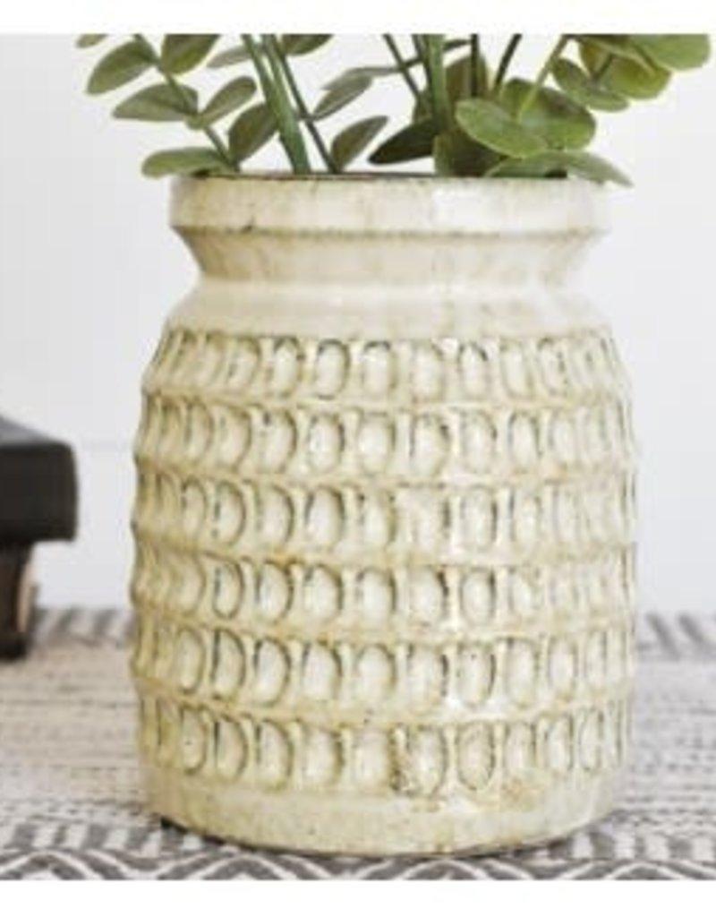 Pattern Canister Vase