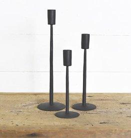 Matte Black Iron Candle Sticks