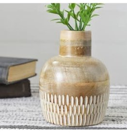 Carved Wood Vase