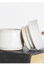 Small  Ceramic White Jar