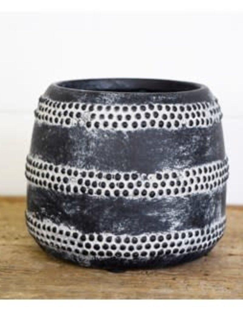 "5"" Charcoal Dot Vase"