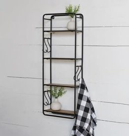 "32""H Wood Wall Shelf"