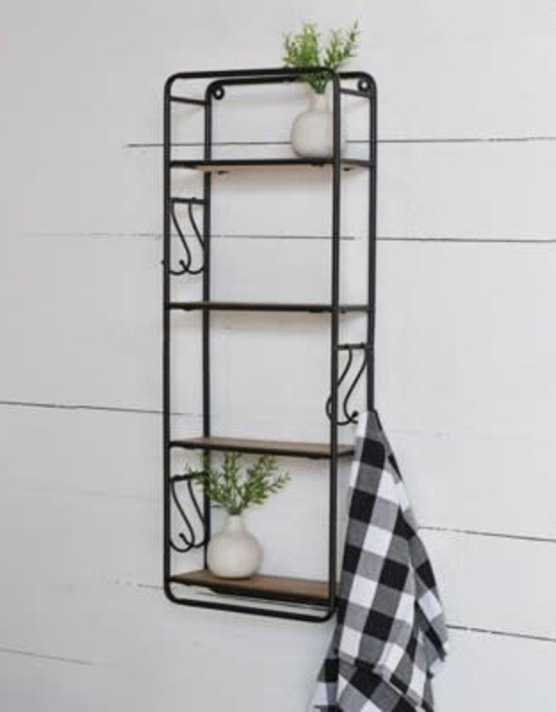 "32""H Wood Wall Shelf"