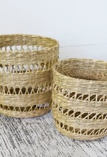 Seagrass Basket (open weave stripes)