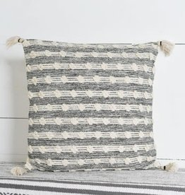 "20"" Nat/Blk Stripe Pillow"