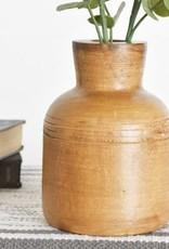 "7"" Decorative Wood Vase"