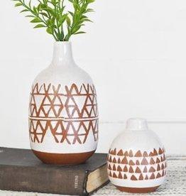 Arrow Pattern Vase