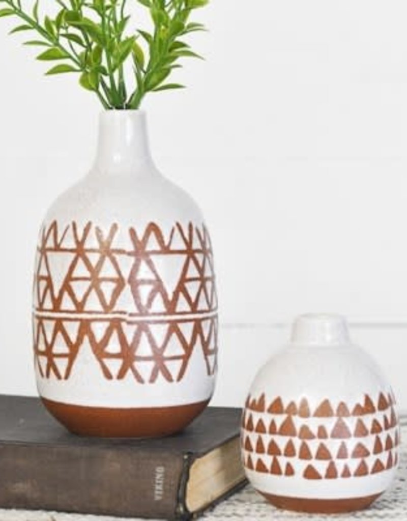 Arrow Pattern Vase