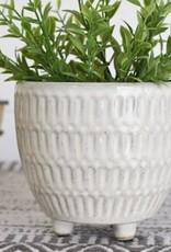"4.75"" Stripe Ceramic Planter"