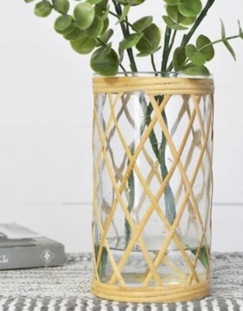 Weaved Glass Jar