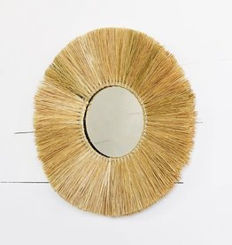 Natural Fiber Wall Mirror
