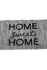 Hand woven home sweet home rug