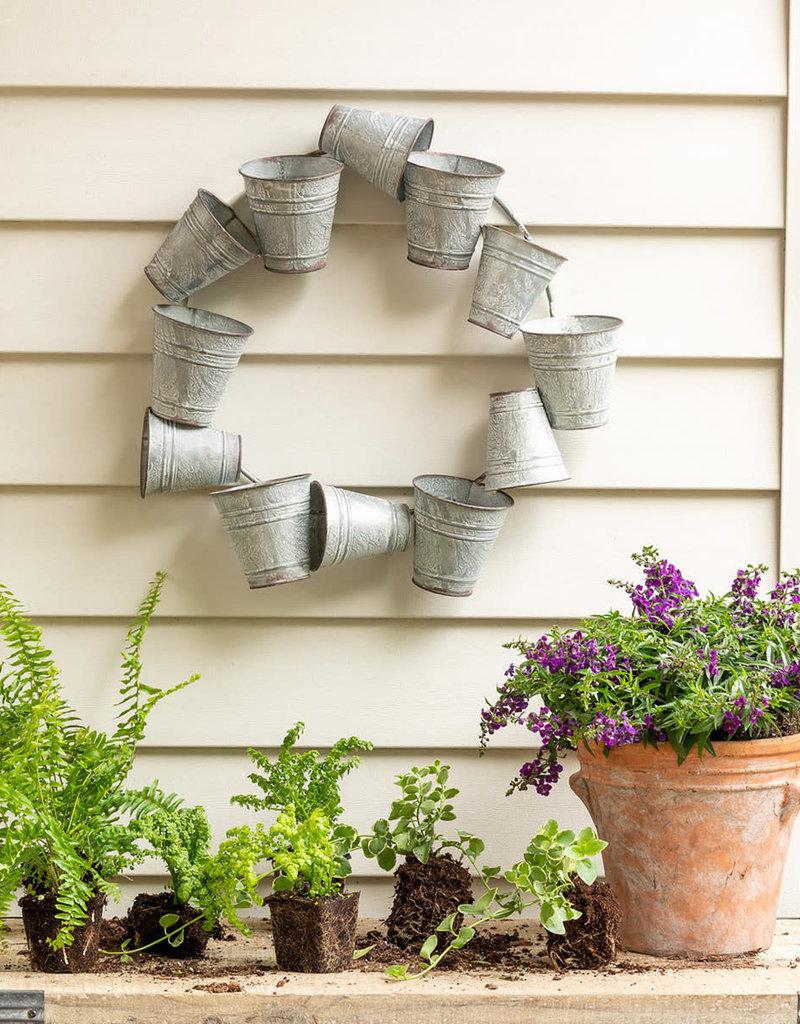 Tin Bucket Wreath